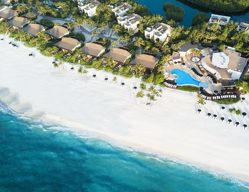 bird's eye view of luxury beach hotel