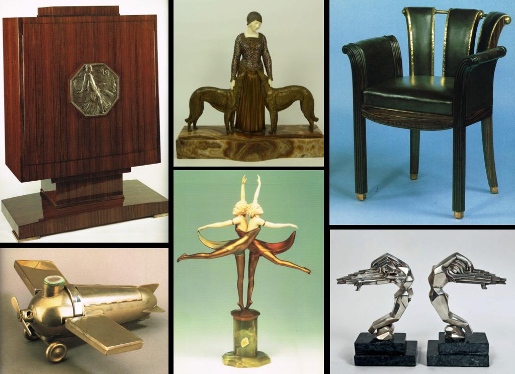 Art Deco Furniture and deco items Image source: Essentials Art Deco by Iain Zaczek