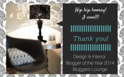 Design & Interior Blogger of the year 2014
