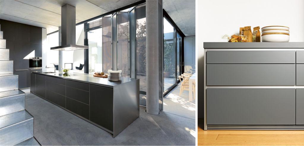Grey kitchen design courtesy of Bulthaup (www.bulthaup.com)