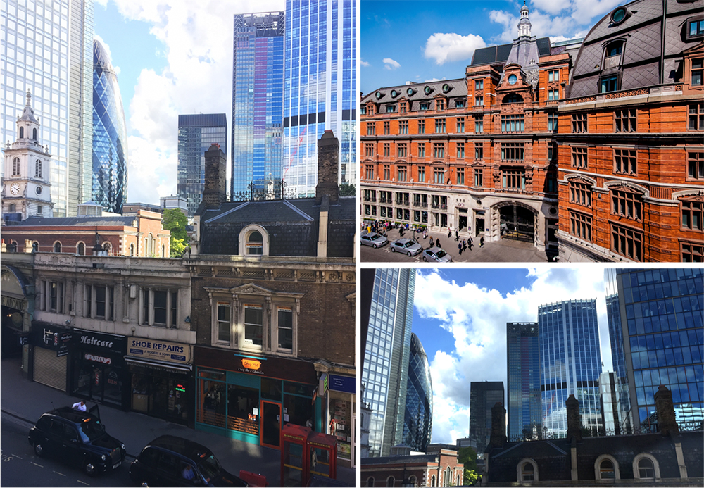 Snapshots from my room at the Andaz and picture of the outside view of the hotel (courtesy of Andaz)