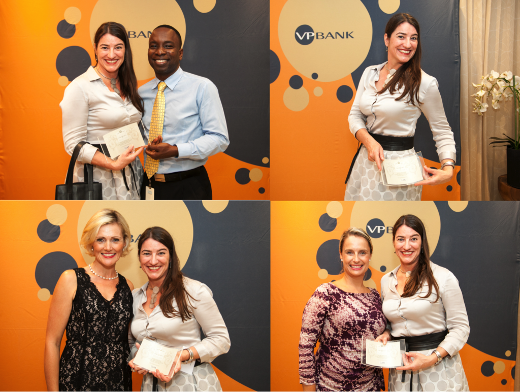 Clockwise from top left: Decoy and me, showing off my award, posing with my sponsor Charlotte, posing with Erin/ Photography: courtesy of Island Images BVI