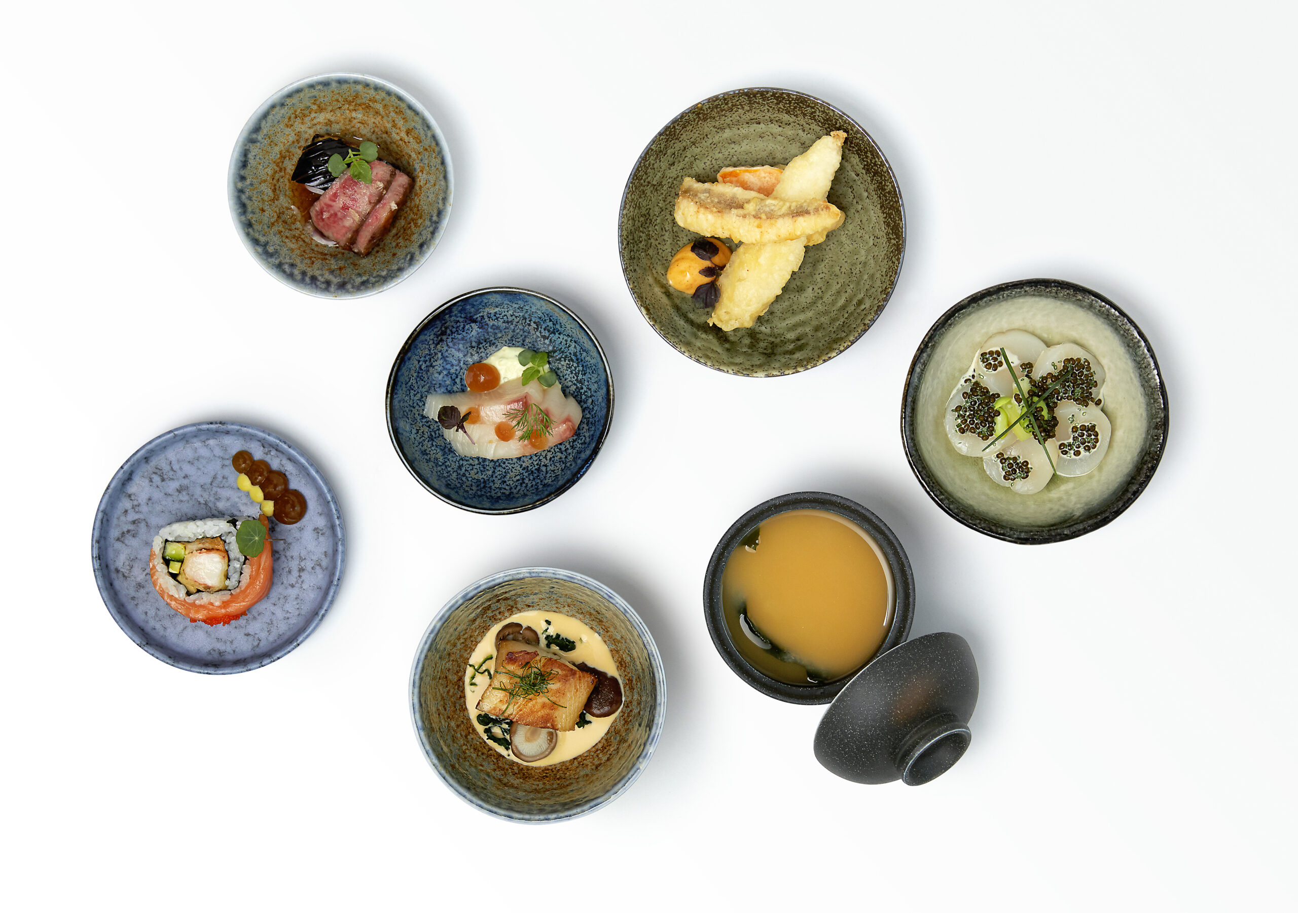 Beautiful presentation of dishes