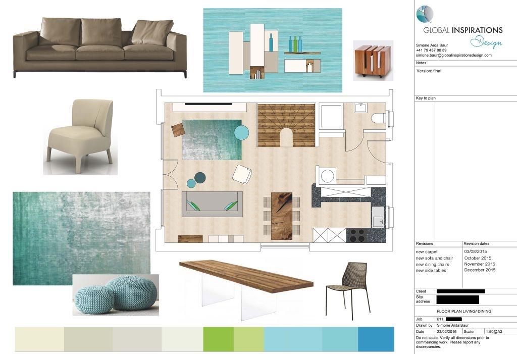 living room design concept Zurich