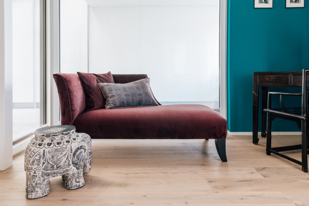 re-upholstered recamiere