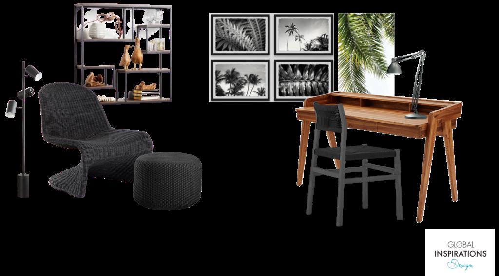 Caribbean Home Office Design