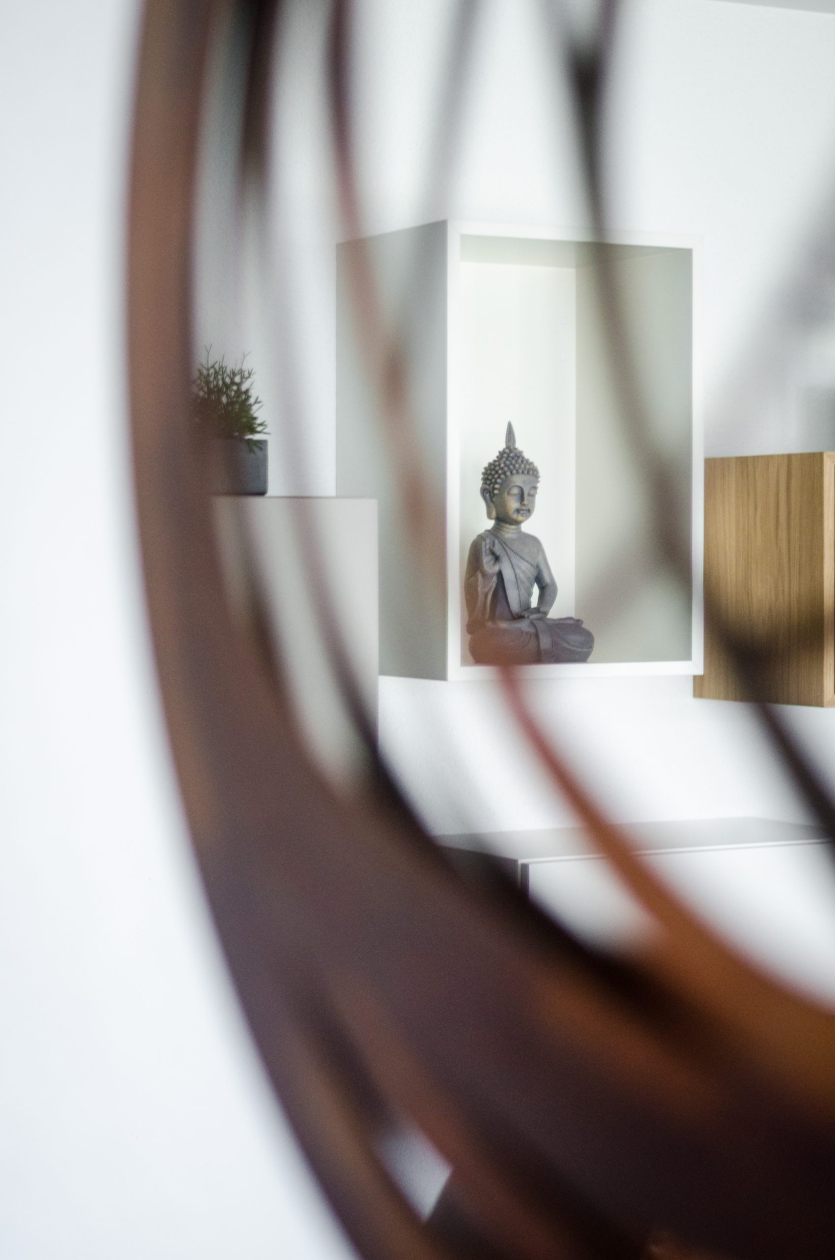 buddha reflection in mirror
