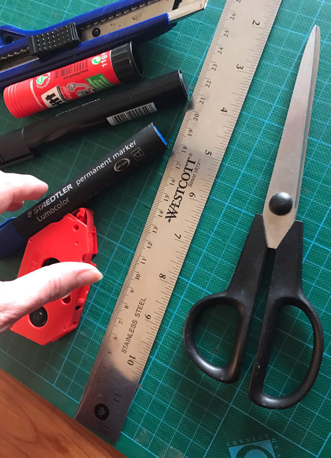 scissors and glue