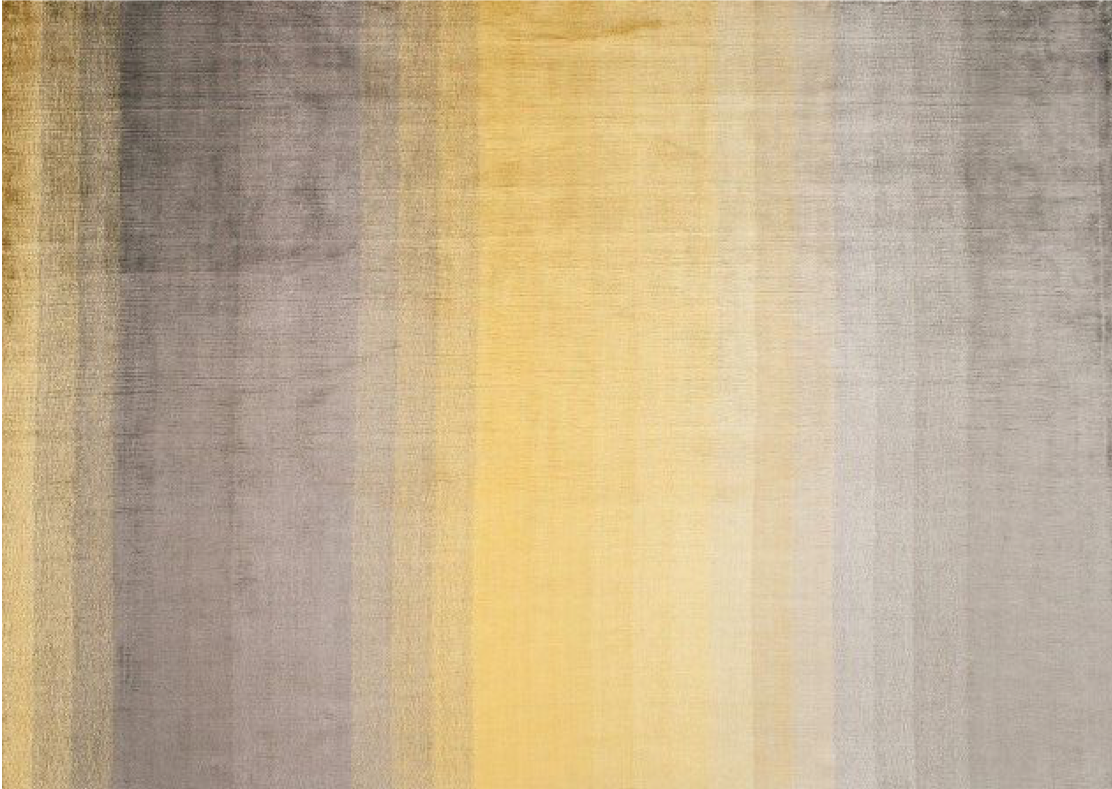 yellow and grey striped rug