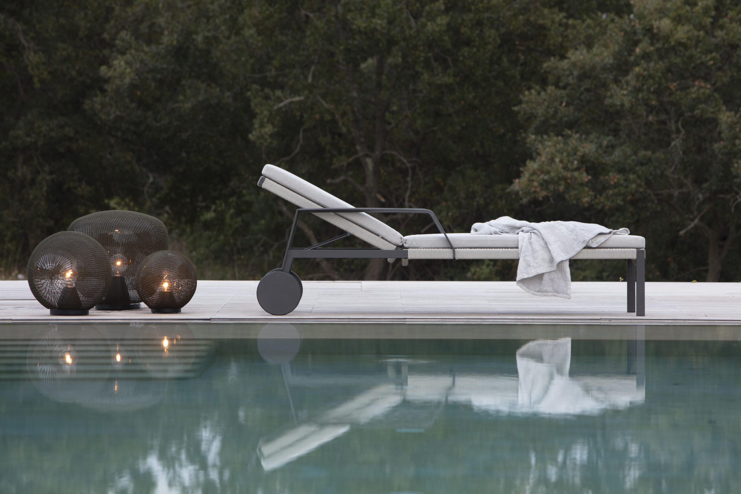 lounger by the pool