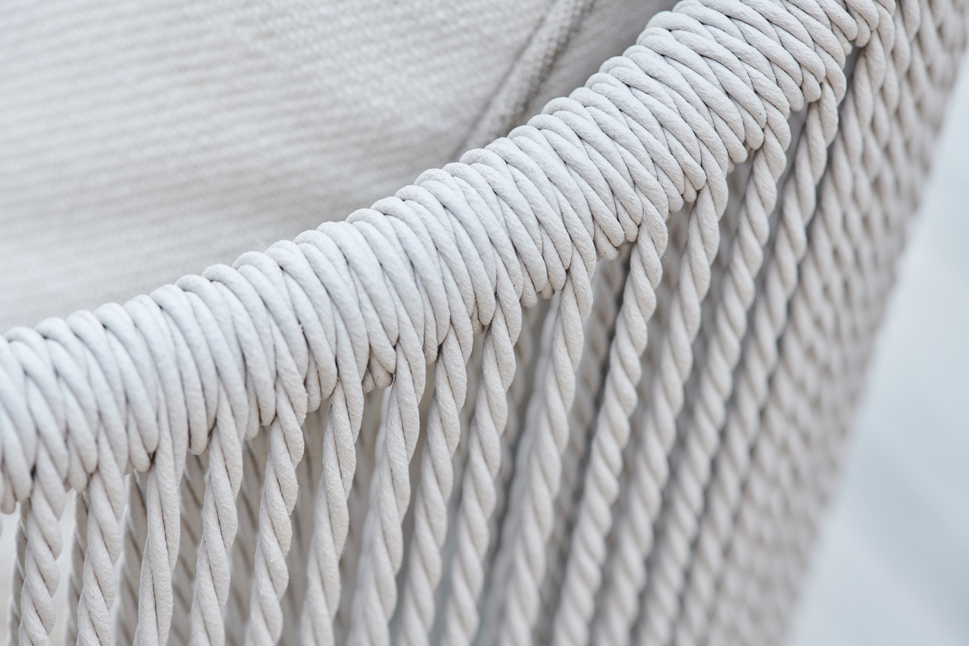 Woven details of outdoor chair
